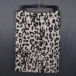 4/10- L.A.M.B animal print skirt size 12